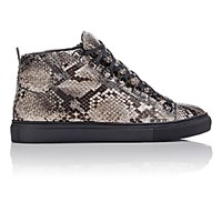 Balenciaga Men's Python Arena High Top Sneakers Grey