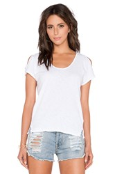 Velvet By Graham And Spencer Amaria Cotton Slub Tank White