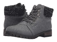 Chinese Laundry Treble Dark Grey Flannel Women's Lace Up Boots Gray