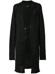 Lost And Found Ria Dunn Long Draped Cardigan Black