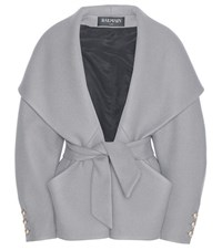 Balmain Wool And Cashmere Jacket Grey