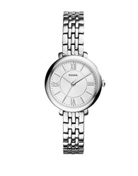 Fossil Jacqueline Three Hand Stainless Steel Watch Silvertone
