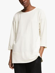 Eileen Fisher Lightweight Crepe Tunic Top Bone