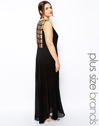 Truly You Cage Back Maxi Dress Black