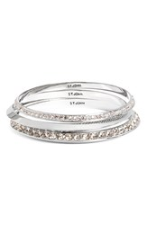 St. John Women's Collection Swarovski Crystal Bangles Set Of 3