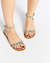 Asos Fancy Me Leather Sandals Dalmation