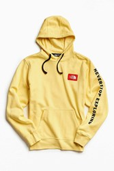 The North Face Patch Hoodie Sweatshirt Gold