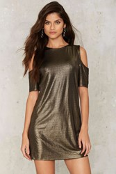 Glamorous Gold Shoulder Mini Dress