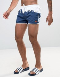 Ellesse Block Colour Swim Shorts In Navy Navy