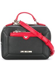 Love Moschino Top Handle Crossbody Bag Black