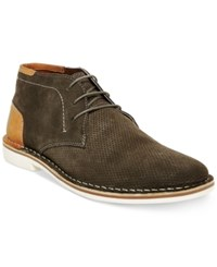 Steve Madden Men's Hendric Suede Chukka Boots Men's Shoes Olive Suede