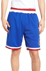 Mitchell And Ness Men's Chicago Cubs Playoff Win Mesh Shorts