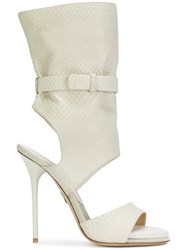 Paul Andrew Open Toe Sandals Calf Leather Leather 37.5 White