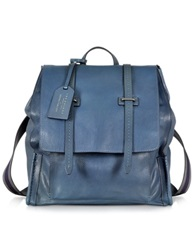 The Bridge Ascott Blue Leather Backpack