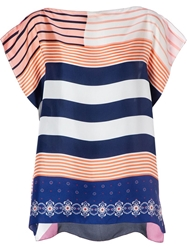 Pierre Louis Mascia Pierre Louis Mascia Printed Oversized Top Pink And Purple