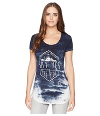 Rock And Roll Cowgirl Short Sleeve T Shirt 49T5551 Indigo T Shirt Blue