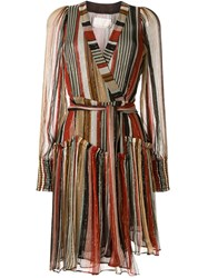 Ginger And Smart Long Sleeved Striped Wrap Dress 60