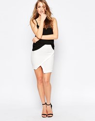 Ax Paris Wrap Front Skirt Cream