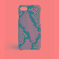The Case Factory Iphone 7 8 Python Multicolor Grey Beige