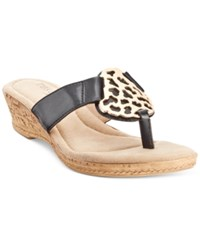 Easy Street Shoes Tuscany By Easy Street Rossano Thong Wedge Sandals Women's Shoes