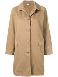 Aspesi Button Fastened Trench Coat Brown