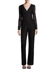 Ella Moss Trello Lace V Neck Jumpsuit Black