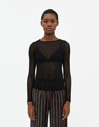 Which We Want Dalia Long Sleeve Top In Black Size Extra Small Spandex