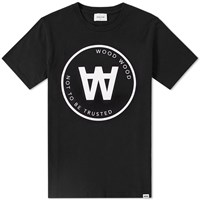 Wood Wood Aa Seal Tee Black
