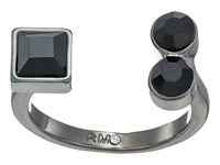Rebecca Minkoff Stone Mix U Ring Gunmetal Jet Ring Black