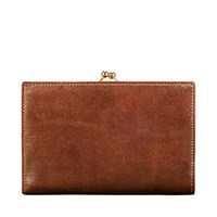 Maxwell Scott Bags Large Tan Leather Coin Purse For Women