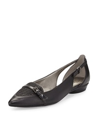 Circa Joan And David Janitsa Leather Flat W Buckles Black
