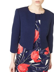 Precis Petite Textured Cropped Jacket Navy