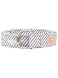 Thom Browne Striped Belt Men Cotton One Size Grey