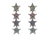 Marc Jacobs Charms Celestial Twinkle Star Earrings Antique Silver Multi