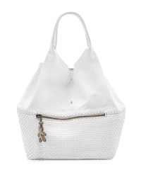Canotta Smooth Woven Leather Shoulder Bag White Henry Beguelin