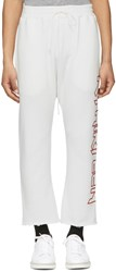 R 13 R13 White Rthirteen Lounge Pants