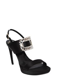 Roger Vivier 110Mm Swarovski Buckle Satin Sandals