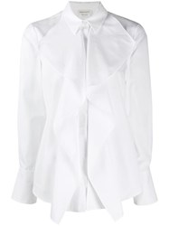 Alexander Mcqueen Draped Detail Shirt White