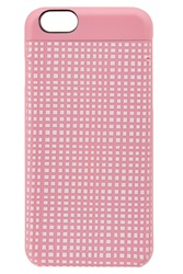 Marc By Marc Jacobs Windowpane Printed Iphone 6 Case Pink