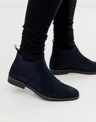 Red Tape Navy Suede Chelsea Boot