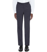 The Kooples Houndstooth Classic Fit Wool Trousers Grey Blue