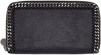Stella Mccartney Navy Falabella Shaggy Deer Wallet