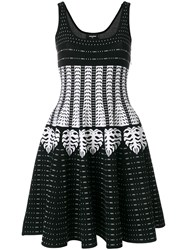 Dsquared2 Patterned Intarsia Dress Black