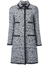 Giambattista Valli Tweed Long Coat Black