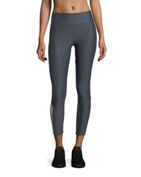 Lanston Deelan Side Block Ankle Compression Leggings Light Gray