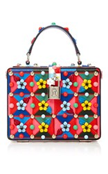 Dolce And Gabbana Floral Box Bag Red Blue Yellow