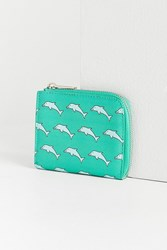 Urban Outfitters Patterned Wallet Green