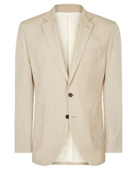 Jaeger Men's Regular Silk Linen Jacket Stone