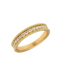 Lord And Taylor 14K Yellow Gold Rope Edge Ring