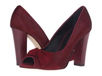Oscar De La Renta Galixy 100Mm Claret Pony Hair Suede Patent Leather